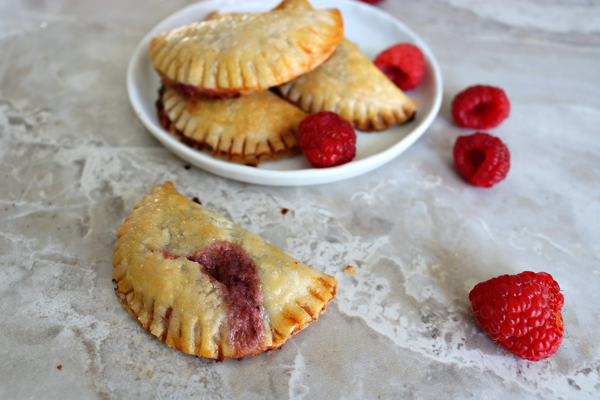 raspberry and nutella hand pies
