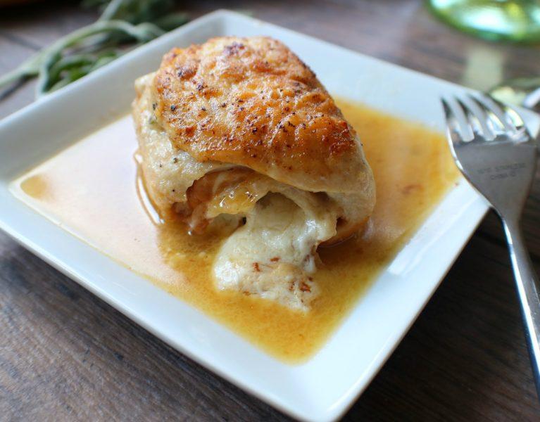 rolled chicken saltimbocca