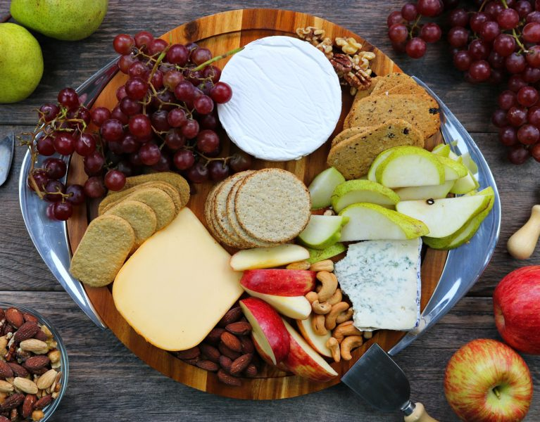 perfect fruit and cheese platter