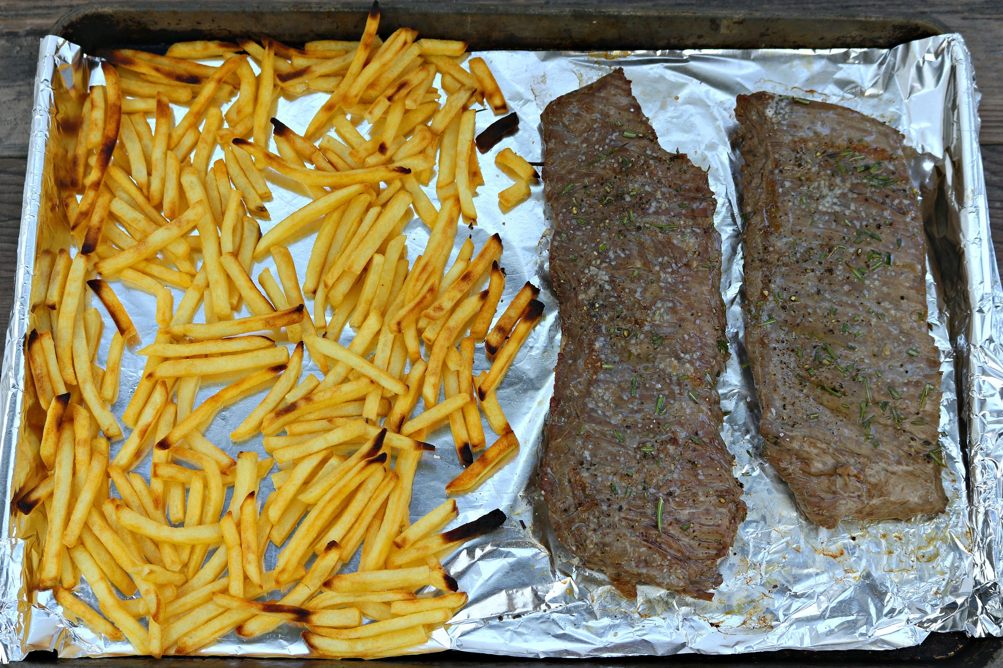 sheet pan steak frites
