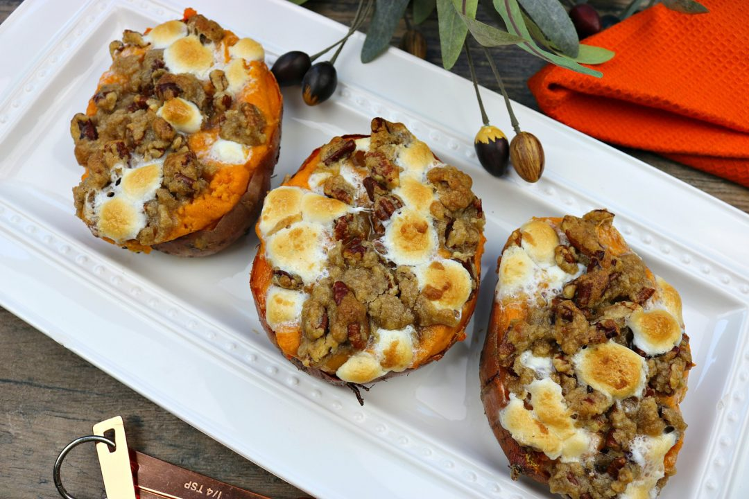 stuffed sweet potato casseroles
